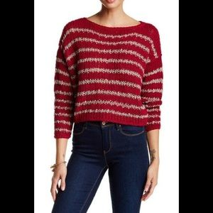 Free people over and easy cropped sweater, small